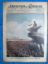 La Domenica del Corriere 27 maggio 1939 Mussolini Torino - Gornjirovac - Expo 42