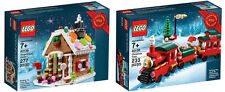 LEGO 40139 Gingerbread House & LEGO 40138 Christmas Train (NEW & MISB)