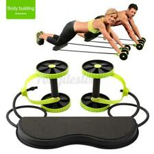 New listing Multifunctional Exercise Equipment Ab Wheel Double Pull Roller w/Resistance