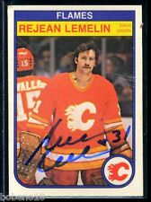 Rejean Lemelin signed autographed Auto 1982-83 O-Pee-Chee card #50 Flames