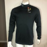 Under Armour Shirt Infrared Base Layer Long Sleeve Black Mock Neck 1238393 374 M