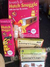 Scratch & Newton Hutch Snuggle & Hutch Hugger 2 X Lounge & Logs 2 X Bottles  NEW