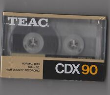 TEAC CDX90 NEW SEALED BLANK CASSETTE TAPE
