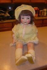 """Antique E.I.H. Co Horsman Marked Composition Doll 23"""" Large Dressed"""