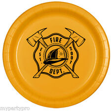 Fireman Dinner Plates Birthday Party Supplies Rescue Heros