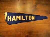Vintage Hamilton College Pennant Clinton, New York Hamilton Continentals