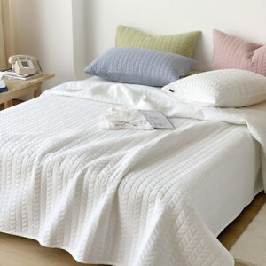 Three-Piece Solid Color Bed Cover 100% Pure Cotton Thicken Quilted Sheets Set