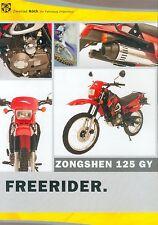 Zongshen 125 GY Prospekt Enduro Motorrad 2004 Broschüre Motorradprospekt China