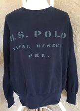 Mens Vtg Ralph Lauren Polo Sport U.S. Naval Reserve Sweatshirt PRL XL RN 41381