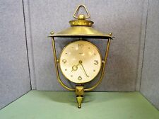 Vintage Mid Century Semca Solid Brass Swiss Windup Wall Clock