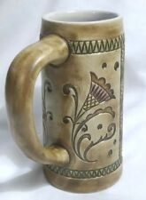RARE Budweiser Beer Stein Ceramarte Mug Tankard Cup FLOWERS Delft Vintage Brazil