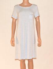 Marks and Spencer M&S Blue Striped PJs Nightdress Nighty Nightie Size 8-20 A17