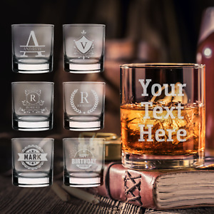 Personalised Whiskey Glass Engraved Glass Gift Any Occasion Glassware Whisky