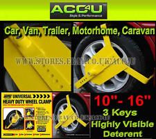 "MP909 Car Van Caravan Motorhome Trailer Heavy Duty Security 10""-16"" Wheel Clamp"