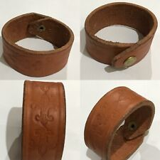 "Cowhide Leather Light Brown 9""Length Cowboy Wrapt Wrist Bracelet"