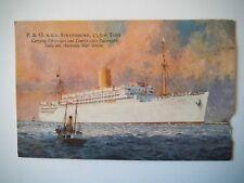 P & O R M S Strathmore Passengers & India & Australia Mail Service Old Postcard