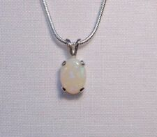 White/Precious Opals Not Enhanced Fine Necklaces & Pendants