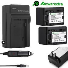 2 BP-727 Decoded Battery+Charger for Canon VIXIA HF R72 HF R70 HF R700 R300 R400