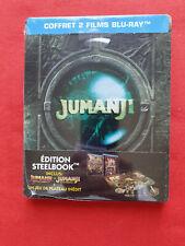 Jumanji 1 & 2 : Bienvenue dans la jungle SteelBook Blu-ray + Jeu de plateau NEUF