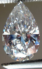 5.70 ct Vvs1 WHITE j-k COLOR PEAR LOOSE REAL MOISSANITE 4 RING/PENDANT/Earrings