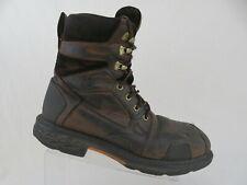 "ARIAT Overdrive 8"" Waterproof Brown Sz 11 D Men Lace-Up Composite-Toe Work Boots"