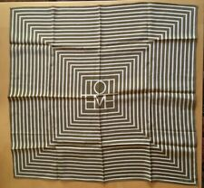 Toteme Monogram San Remo Scarf Dark Brown Yellow Silk Square Scarf