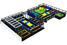 15,500 sqft Commercial Trampoline Park Dodgeball Climb Turnkey Ninja We Finance