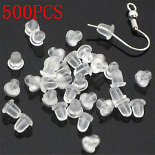 New 4MM 500PCS Earring Back Plugs Stoppers Ear Post Nuts Jewelry Findings FT