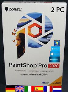 Corel PaintShop Pro 2020 Vollversion 2 PC + Handbuch (PDF) Download NEU