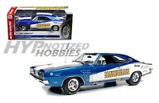 Auto World 1:18 1969 Dodge Charger R/T Modellino Blu Aw231