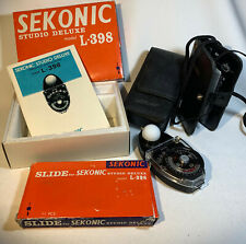 Sekonic Studio Deluxe Light Meter L-398 with Slide Set With Boxes, Instructions