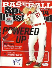 LOS ANGELES ANGELS MIKE TROUT SIGNED SPORTS ILLUSTRATED ROY COA MVP JSA AUTO
