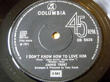 """Jackie Trent-Je ne sais pas comment l'aimer 7"""" vinyle"""