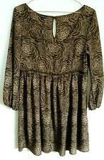 M&s Limited Collection Rich Brown Top Tunic Dress Size UK 14 Womens Autumn