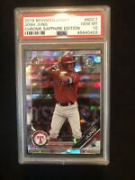 2019 Bowman Chrome Sapphire BDC7 Josh Jung RC Rookie PSA 10 GEM MINT 45640403