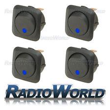 4x LED Blu Illuminato Rocker Interruttore ON/OFF 12 V 25 A LUCE Dash per Auto Furgone
