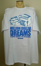 MILLION DOLLAR DREAMS Streetwise Clothing White T Shirt  2X 2XL Rags To Riches $
