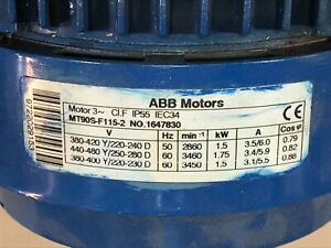 MINT CONDITION  ABB MT90S-F115-2 MOTOR
