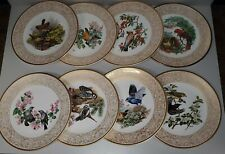 Boehm Presents Woodland Birds of America Complete Set - 8 plates made in England