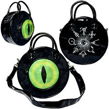 Kreepsville 666 Eyeball Bag Black Cat Bag Purse hex symbols Gothic Horror