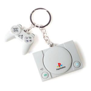 SONY Playstation Console & Controller 3D Rubber Keychain Unisex Grey KE880218SNY