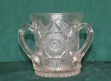 VINTAGE 3 HANDLE GLASS SPOONER