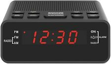 Digital Alarm Clock Radio, Small Alarm Clocks, 0.6� Led Digits Dimmerable
