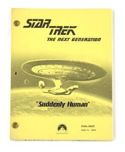 "STAR TREK: TNG ORIGINAL SCRIPT-  ""Suddenly Human,"" Teleplay by Whelpley & Taylor"