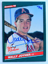 Wally Joyner 2014 Donruss Recollection 1986 Buyback Auto 43/48 California Angels