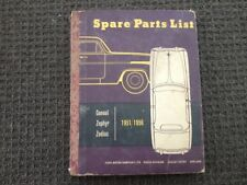 Ford zephr, console, zodiac 1951-1956 Parts Book
