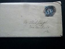 Us #182 Cover,Phila Pa to McMichaels Pa (dead Po) w/Contents, 1882 Novelty Sto