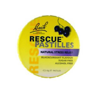 2 x Rescue Remedy Blackcurrent Pastilles 50G NEW Factory Sealed