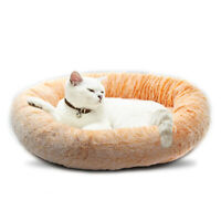Cozy Pet Bed Round Warm Plush Nest Sleeping Bed 55inch for Cats Small Dogs