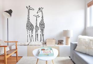 Giraffe Family Wall Art Decal Sticker A90